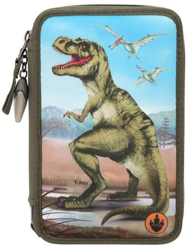 TOPModel Dino World Kleurpotloden & Viltstiften Etui T-Rex
