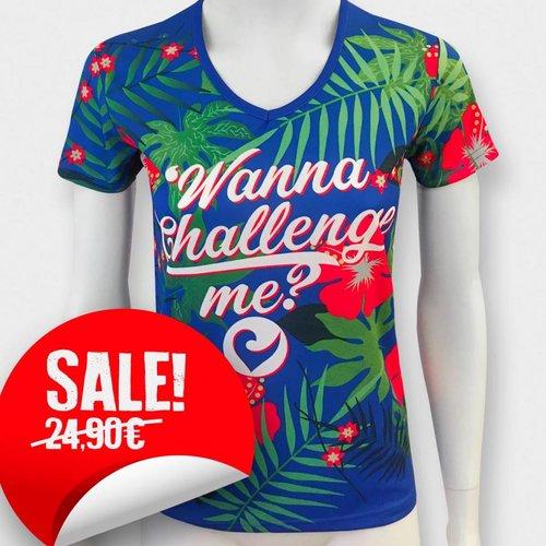 "Challenge Roth Flower T-Shirt ""Wanna Challenge me?"""