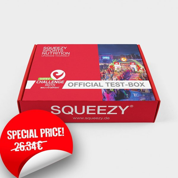 SQUEEZY SPORTS NUTRITION Test the products of the DATEV Challenge Roth 2019