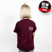 Challenge Roth Challenge Kids-Shirt Einhorn - Bordeaux