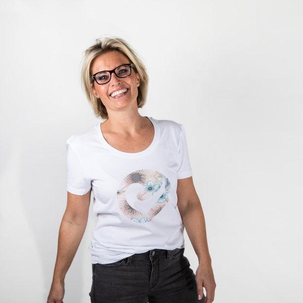 "Challenge Roth Women T-Shirt ""Flower Heart"" - Size M"