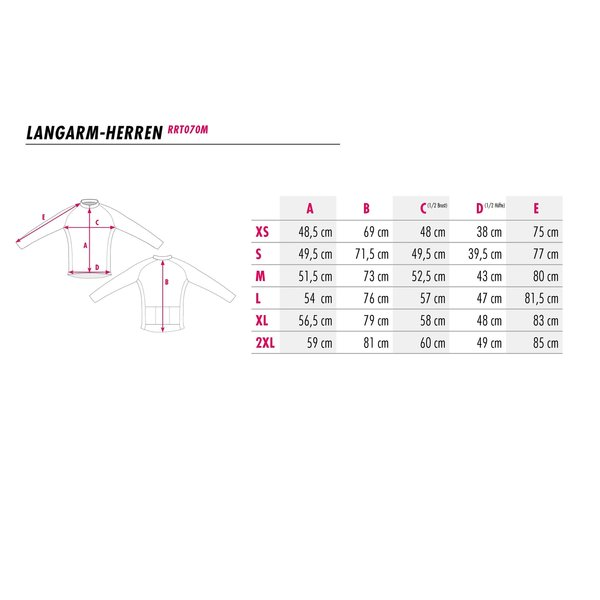 RenéRosa Langarm-Radjacke Jubiläumsdesign