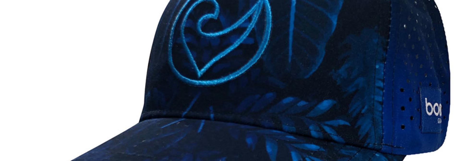 Technical Trucker Blue Leaves
