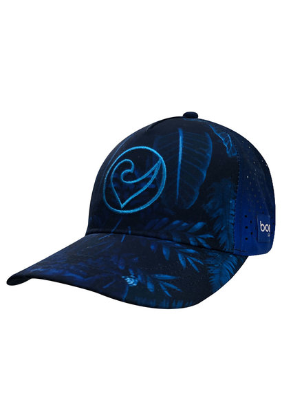Technical Trucker Blue Leaves
