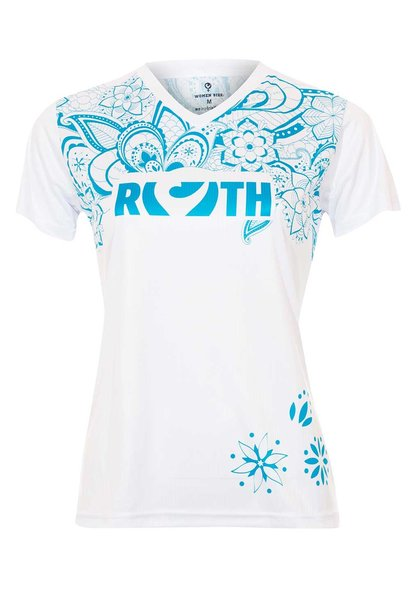 Ladies Shirt white Flower