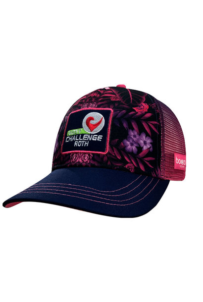Technical Trucker Purple Flowers