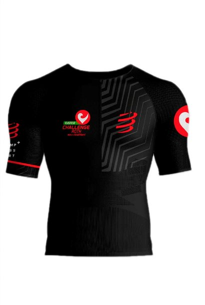 Compressport Triathlon-Shirt schwarz-rot XS