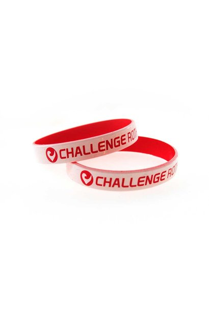 Wristband Challenge Roth white-red