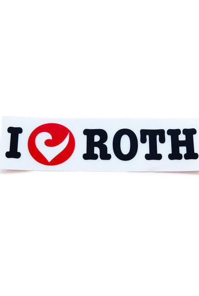Sticker I love ROTH black