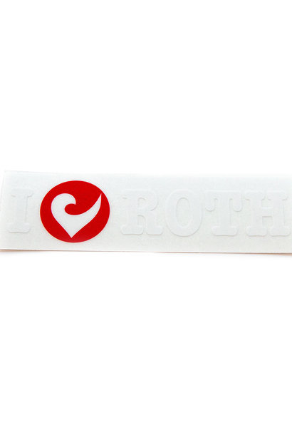 Sticker I love ROTH transparent