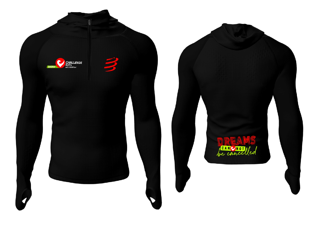 3D Thermo Seamless Zip Hoodie-3