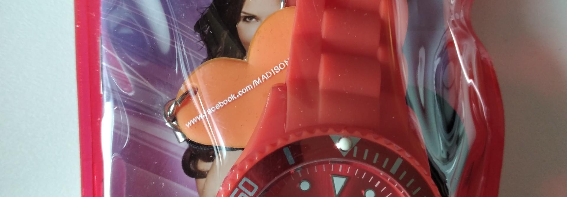 Madison Armbanduhr rot Candy Time