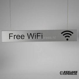 Wifi hangbord tekst Free Wifi