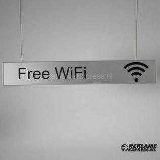 Wifibordje hangbord met Free Wifi tekst