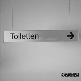 Toiletten, Hangbord Toiletten.