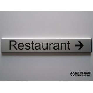 Bordje Restaurant wandmodel