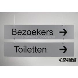 Hangbord Bezoekers Toiletten  Budgetserie