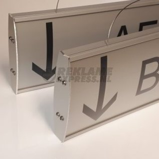 Hangbord met tekst iX model 60 cm