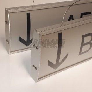 Hangbord met tekst model iX 50 cm