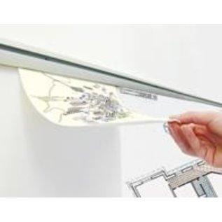 Ophangprofiel voor bestelbon, werkbonnen en tekeningen lengte 50 cm.