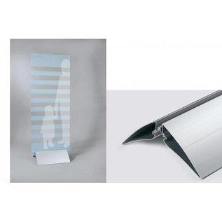 Voet voor reclamebord of plaat, klemvoet 23.5 cm.
