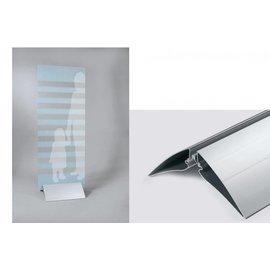 Voet voor reclamebord of plaat, klemvoet 50 cm.