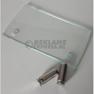 Glasplaatje los voor naambord baliemodel vervanging