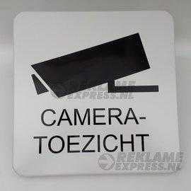 Huismerk Cameratoezicht Metaalbord 30x30 cm