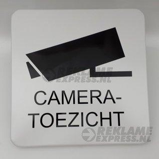 Huismerk Cameratoezichtbord metaal 30x30 cm