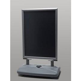Stoepbord grijs handig formaat A1