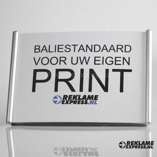 Baliebordje voor eigen print A5 aluminium naambordje