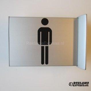 Toiletbordje Herentoilet haaks op de muur