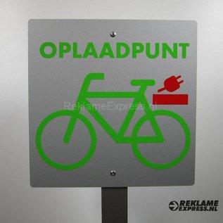 Opladen E-Bikes bord, oplaadpunt e-bike.