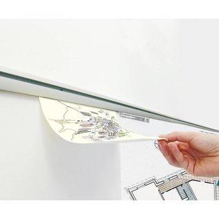 Ophangprofiel voor bestelbon, werkbon en tekeningen 200 cm.