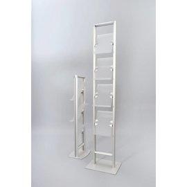 Folderrek Compact 4 x A4 aluminium