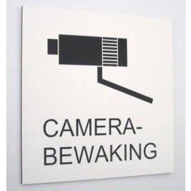 Camerabewakingbord 25x25 cm zwart wit