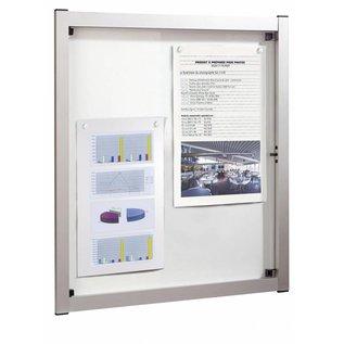 Informatievitrine, wandvitrine 51,2 x 67,9 cm. Media A2 strak aluminium design.