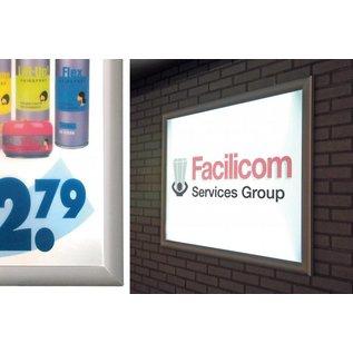 Verlichte posterlijst A4 21x29.7 cm. LED verlichting en klikprofiel
