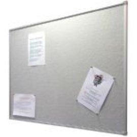 Prikbord 45x60 cm textiel grijs demo nieuw in verpakking