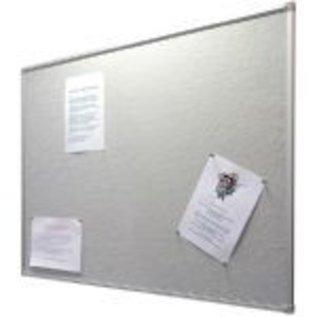 Prikbord 45x60 cm textiel grijs