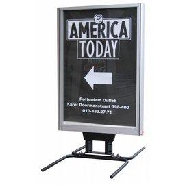 Stoepbord Poster Plus 120x176 aluminium MEGA GROOT