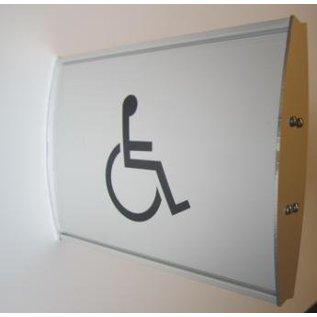 Toiletbordje invaliden 15.3x21 cm haaks iX