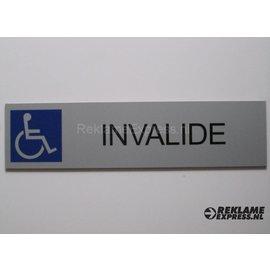 Parkeerbord Invaliden plaatje Dibond aluminium look