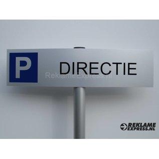 Parkeerbordje Directie compleet met paaltje