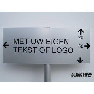 Parkeerbord met tekst naar keuze compleet met paaltje