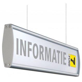 Hangbord aluminium P 13.4x40 cm