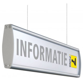 Hangbord aluminium P 10.4x50 cm