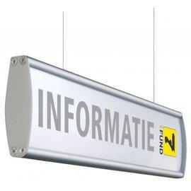 Hangbord aluminium P 13.4x50 cm