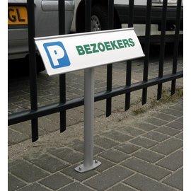 Parkeerbord P 13,4x50 cm aluminium profiel