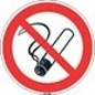 Niet roken bordje kunststof 10 cm set 5 stuks